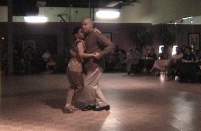 Argentine tango canyengue performance
