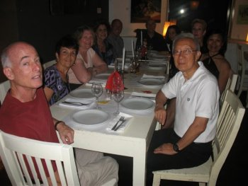 Argentine tango group trip Buenos Aires - dinner