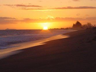 Kekaha Beach sunset Kauai