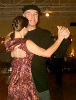 Argentine tango social dancing