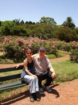 Rick and Lynda in rose garden