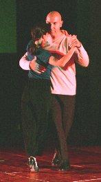 Argentine tango rehearsal